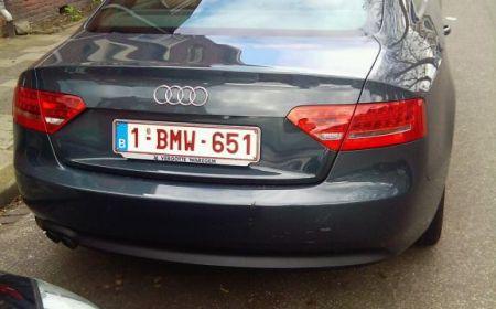 Audi A5 met BMW kenteken