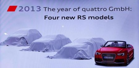 Audi RS modellen 2013