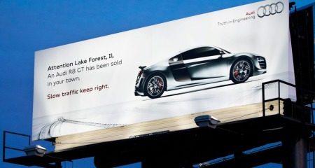 Audi R8 GT Billboard