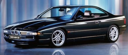 BMW 850CSi pillarless doors