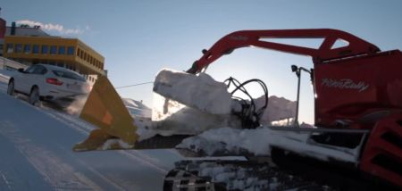 BMW X6 vs Snowcat