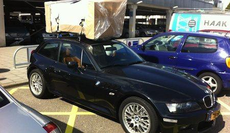 BMW Z3 als winkelwagentje