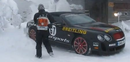 Bentley Continental Supersports sneeuwvrij maken