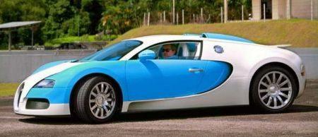 Sultan van Johor in zijn Bugatti Veyron