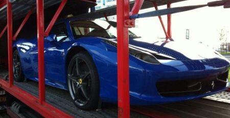 Ferrari 458 Spider Bugatti Blue