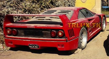 Ferrari F40 is treurig