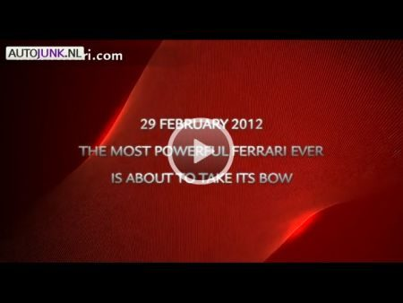 Ferrari teaser video