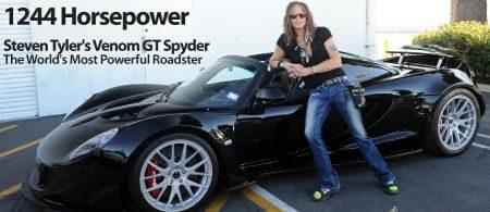 Hennessey Venom GT Spyder van Steven Tyler
