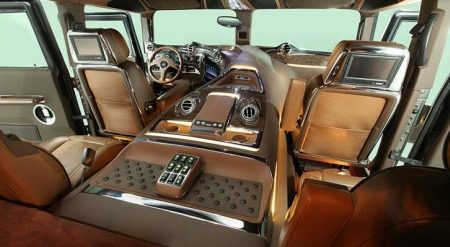 Hummer h1 van dc design indiaas chique for Interieur hummer
