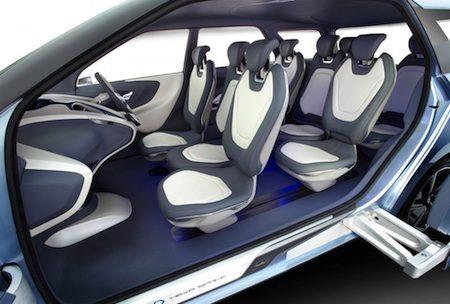 De Hyundai Hexa Space van binnen