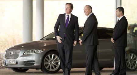 Jaguar XJ Sentinel David Cameron