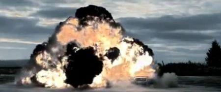 Jaguar XJ Sentinel explosie