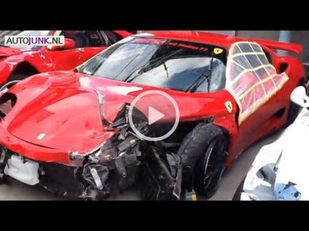 Kapotte Ferrari's - Video