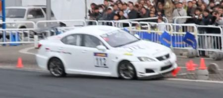 Lexus IS-F crash in Japan