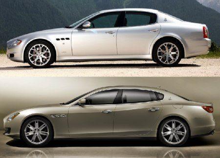 Maserati Quattroporte oud vs nieuw