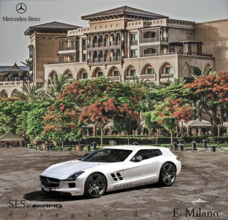 Mercedes SLS Shooting Brake shopje