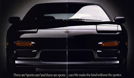 Nissan 200SX S13 sports car ad