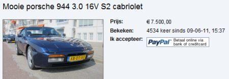 Porsche occasion 7.500 euro