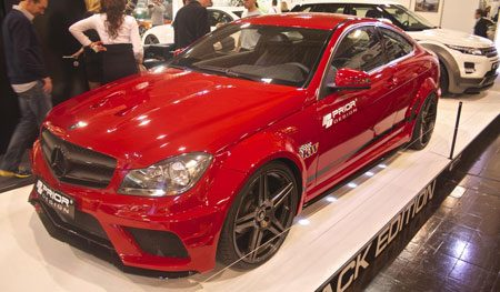 Mercedes C-Coupe Black Edition op Essen 2012