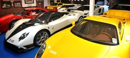 Supercar garage Peter Saywell