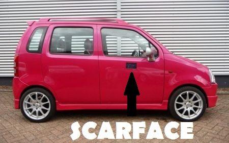 Suzuki Wagon R+ Pink Pimped Edition