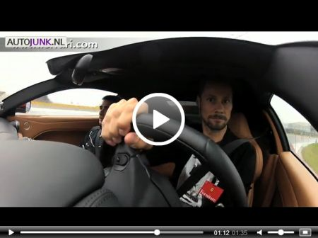 Tom Boonen in een Ferrari F12berlinetta @ Fiorano