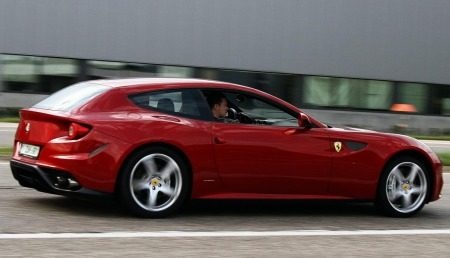 Tom Boonen in Ferrari FF