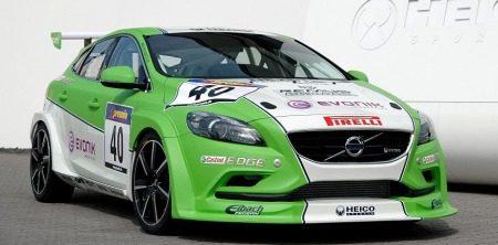 Volvo V40 groene racer van Heico