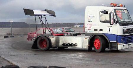 Volvo drifttruck in Polen