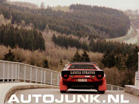 Lancia Stratos op Spa Francorchamps