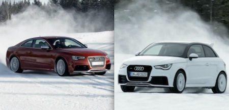 Audi RS5 en A1 Quattro gaan zijwaarts