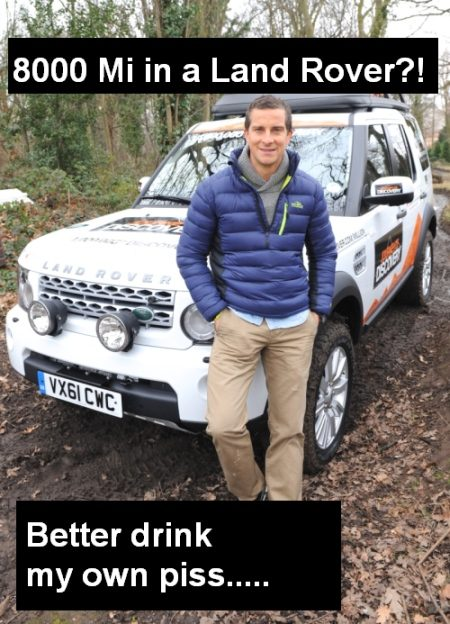 Bear Grylls on millionth Land Rover
