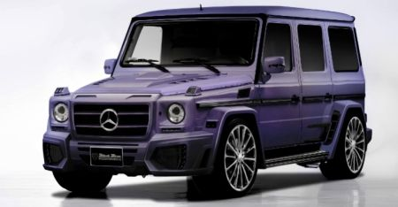 Mercedes G55 Wald Black Bison AMG paars luchthapper edition