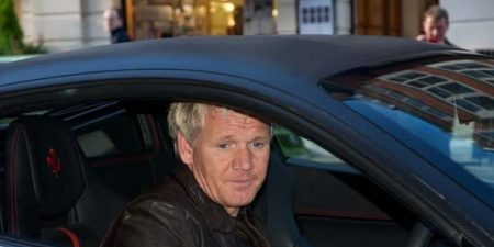 Gordon Ramsey in his 458 Italia