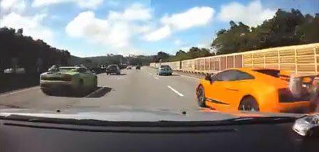 Lamborghini gaat crashen