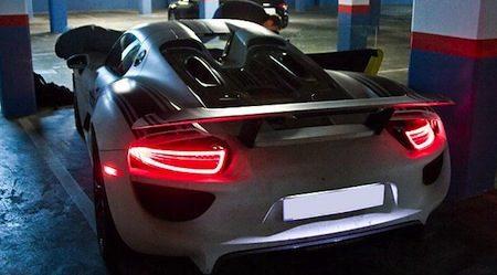 Porsche 918 spyder lampjes