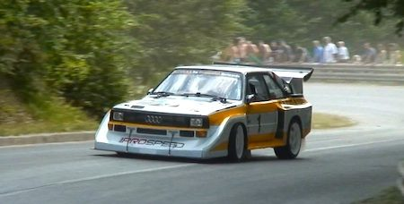 Audi Quattro S1-replica is een Hillclimbbaas [video]