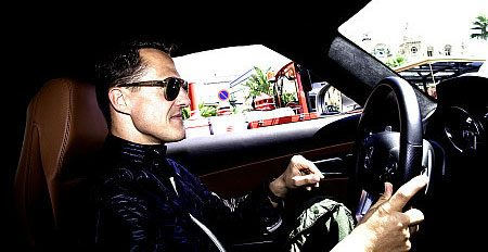 Schumi living it large