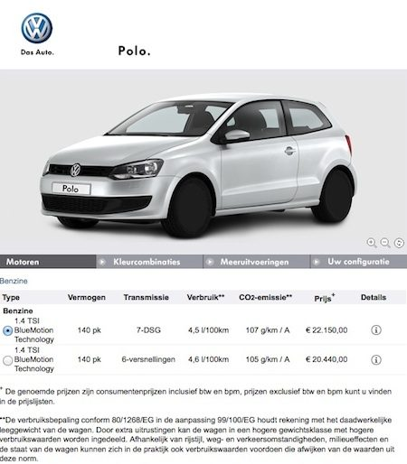 Vanafprijzen Polo BlueGT