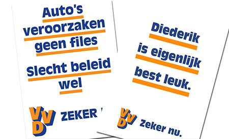VVD posters