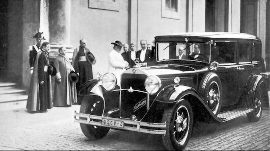 1930 Mercedes-Benz Nurburg 460 Popemobile