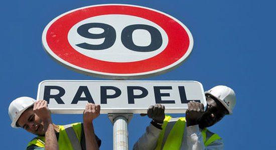 De huidige maximumsnelheid moet omlaag in Frankrijk