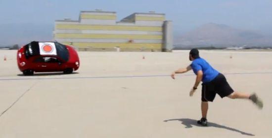Abarth 500C bizarre stunts