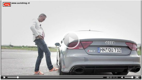 Audi RS7 rijtest video met die dwaas