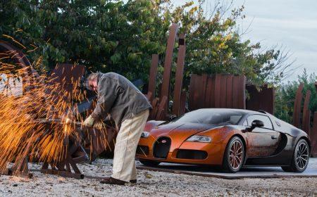 Bugatti Veyron Grand Sport uitmelken