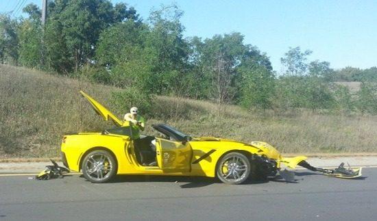 Corvette C7 crash