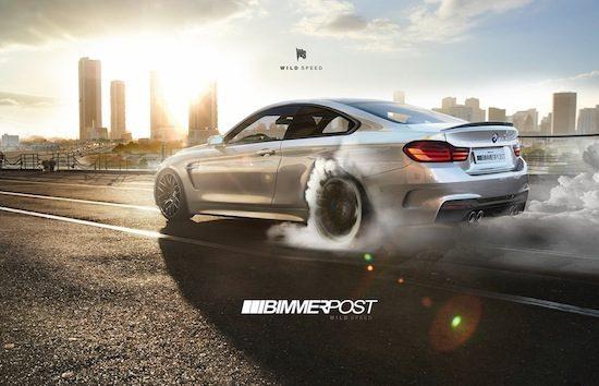 BMW M4 doet vlammen