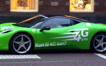 Ferrari 458 Italia, net zo snel als 4G van KPN?