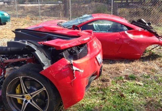 Ferrari 458 Italia crash in Birmingham, Alabama