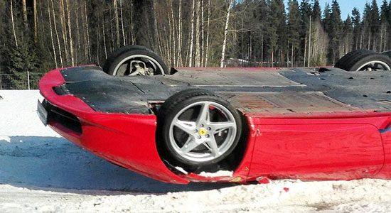 Ferrari 458 Italia is dakloos